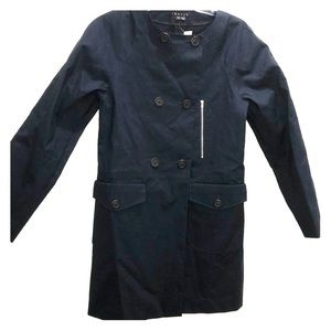 Theory Navy Blue Trench Coat